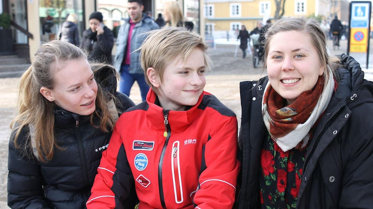 Emma, Albin och Anneli.