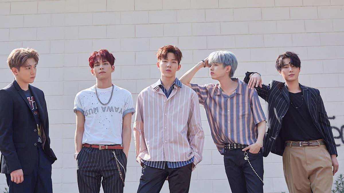 K-popbandet DAY6 i ett porträttbild.