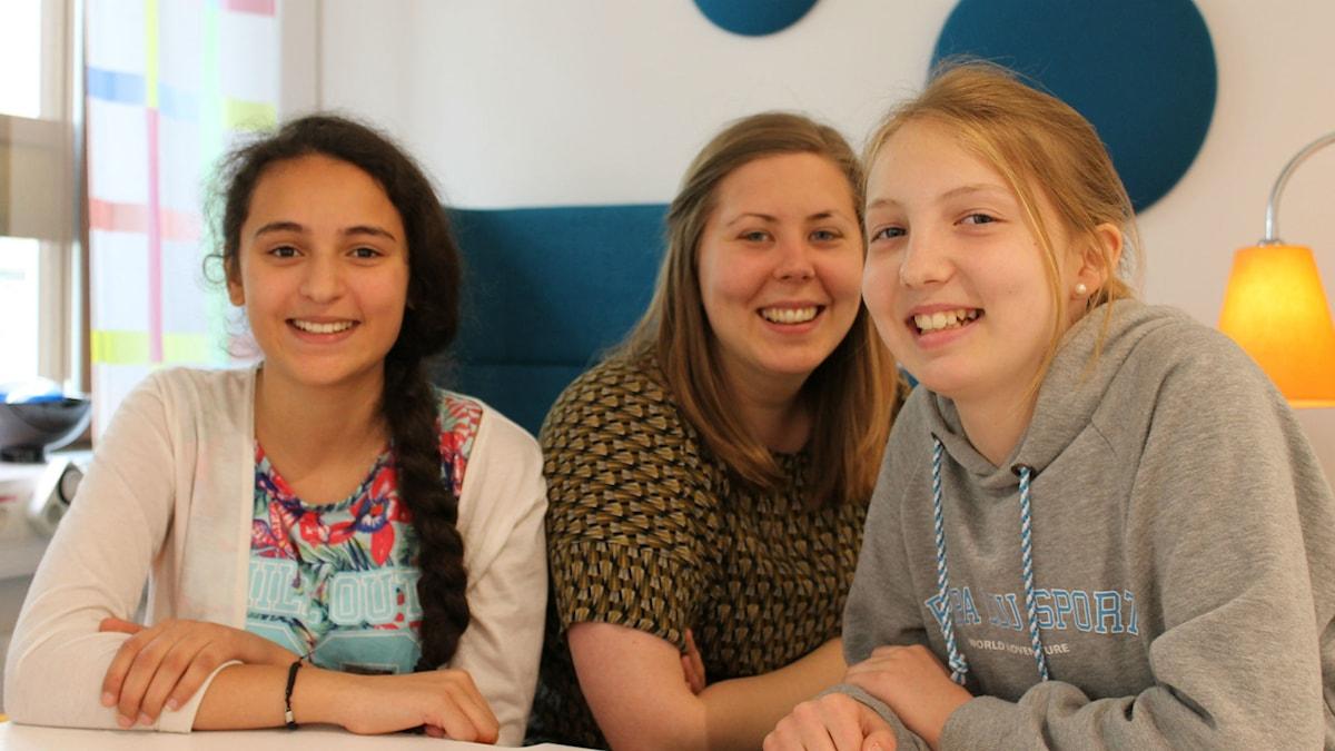 Mariem, Minna och Anneli.