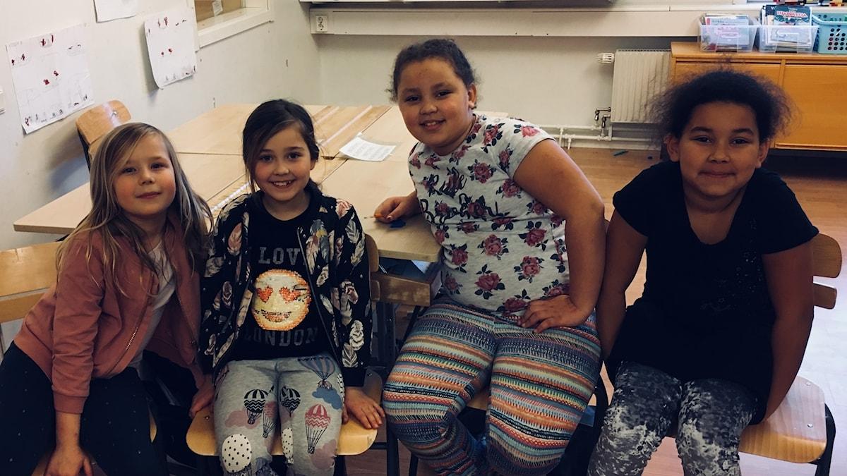 Leia, Noova, Havanna ja Ariana.
