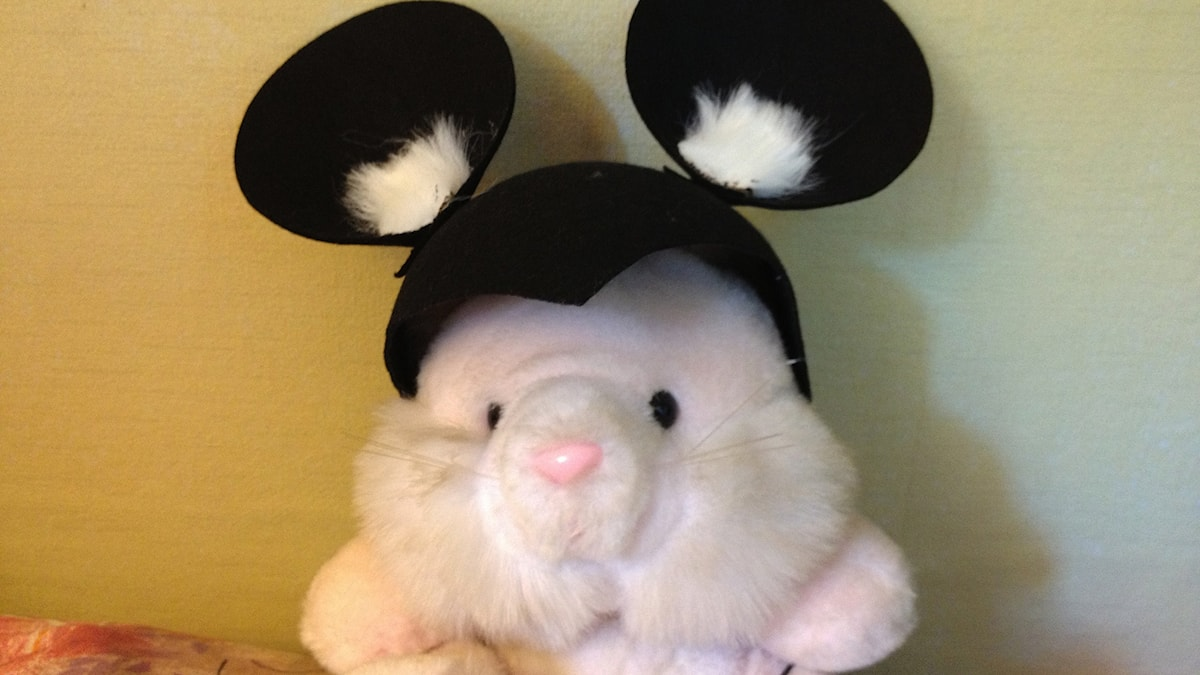 Pupu, jolla on hiirenkorvat.