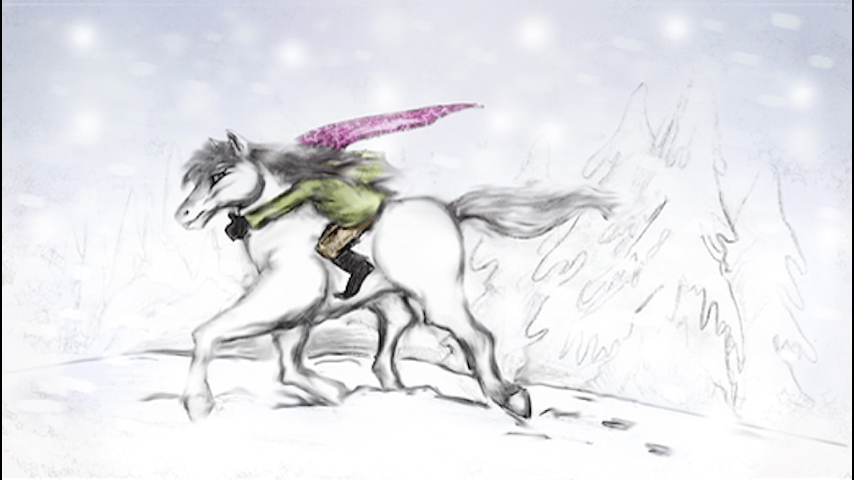 Hevostontun paluu. Piirros: Marko Posero