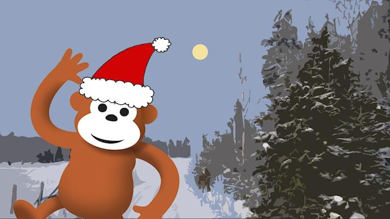 Gorilja joulutunnelmissa Lapissa