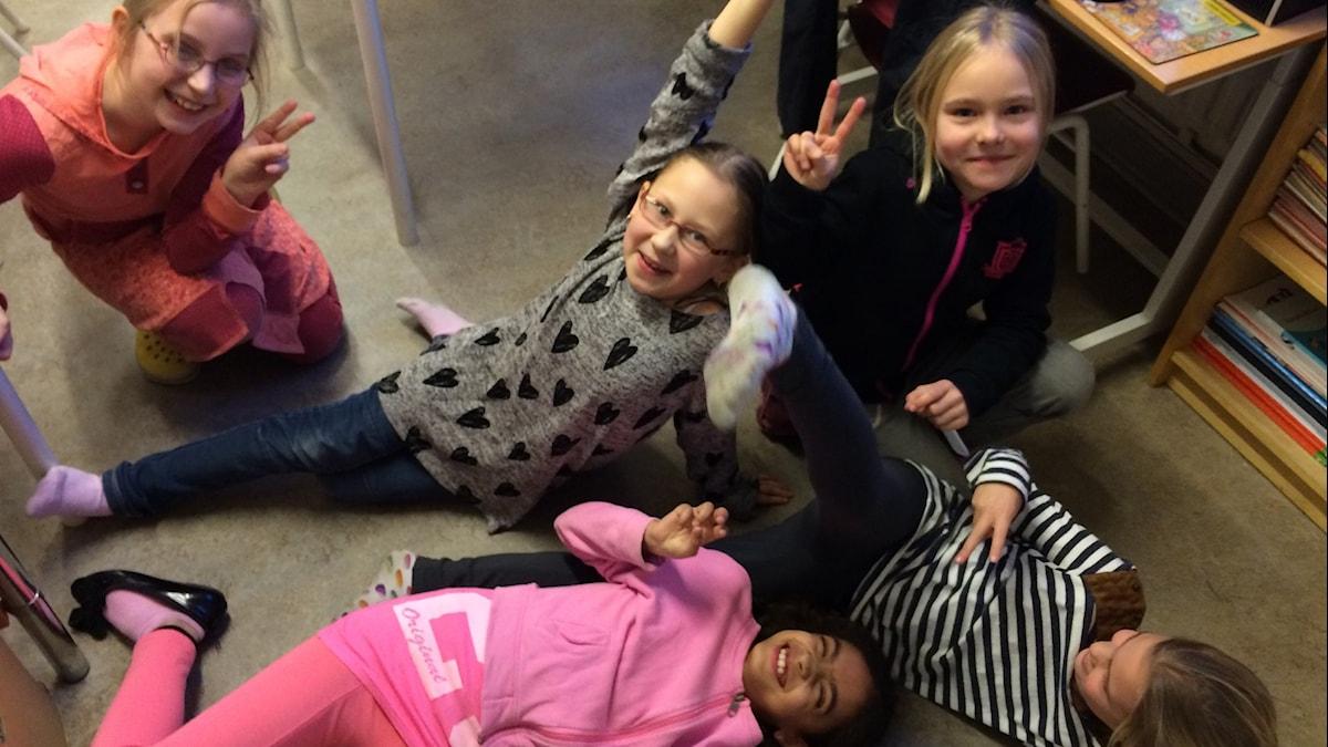 Ester, Amelie, Camilla, Ines ja Olivia