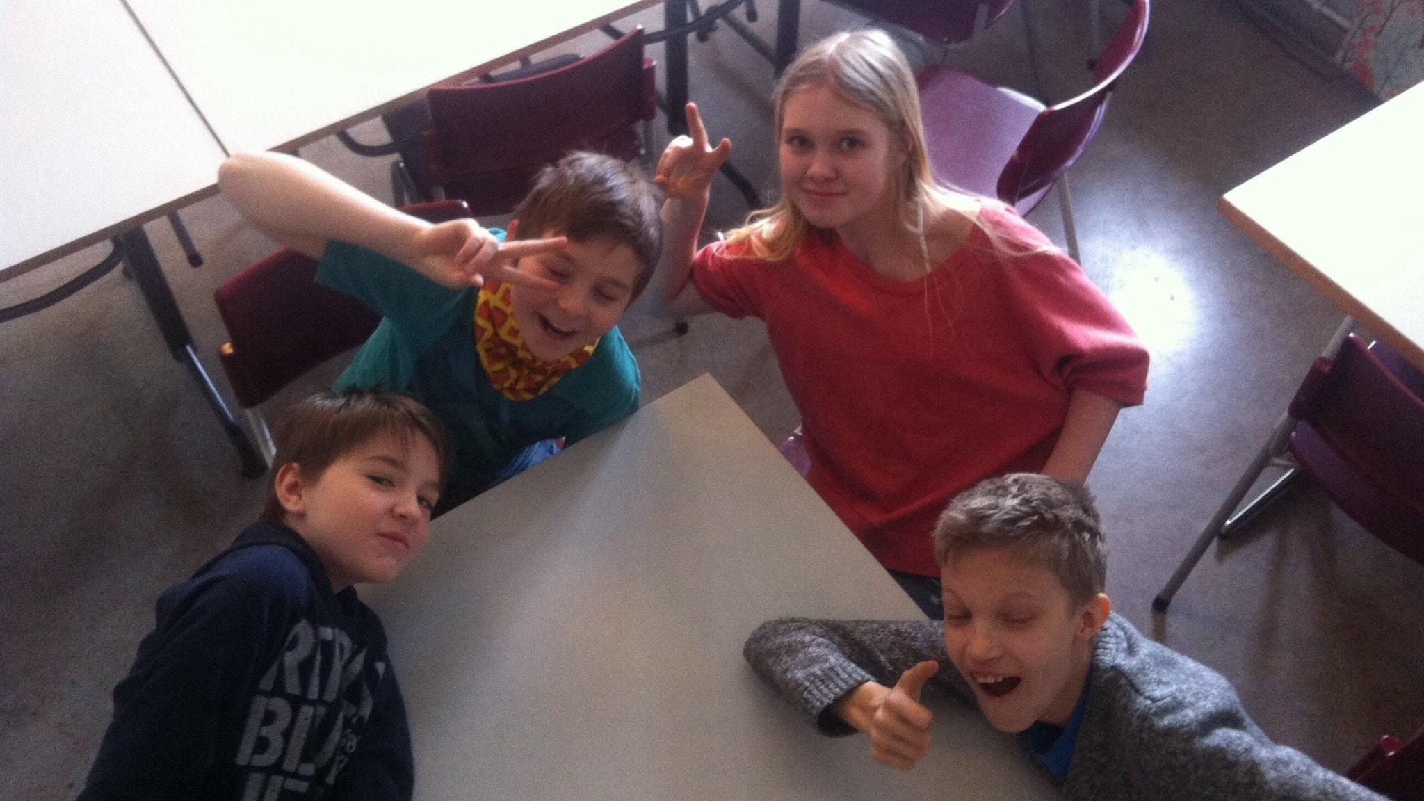 Axel, William, Milla ja Hugo