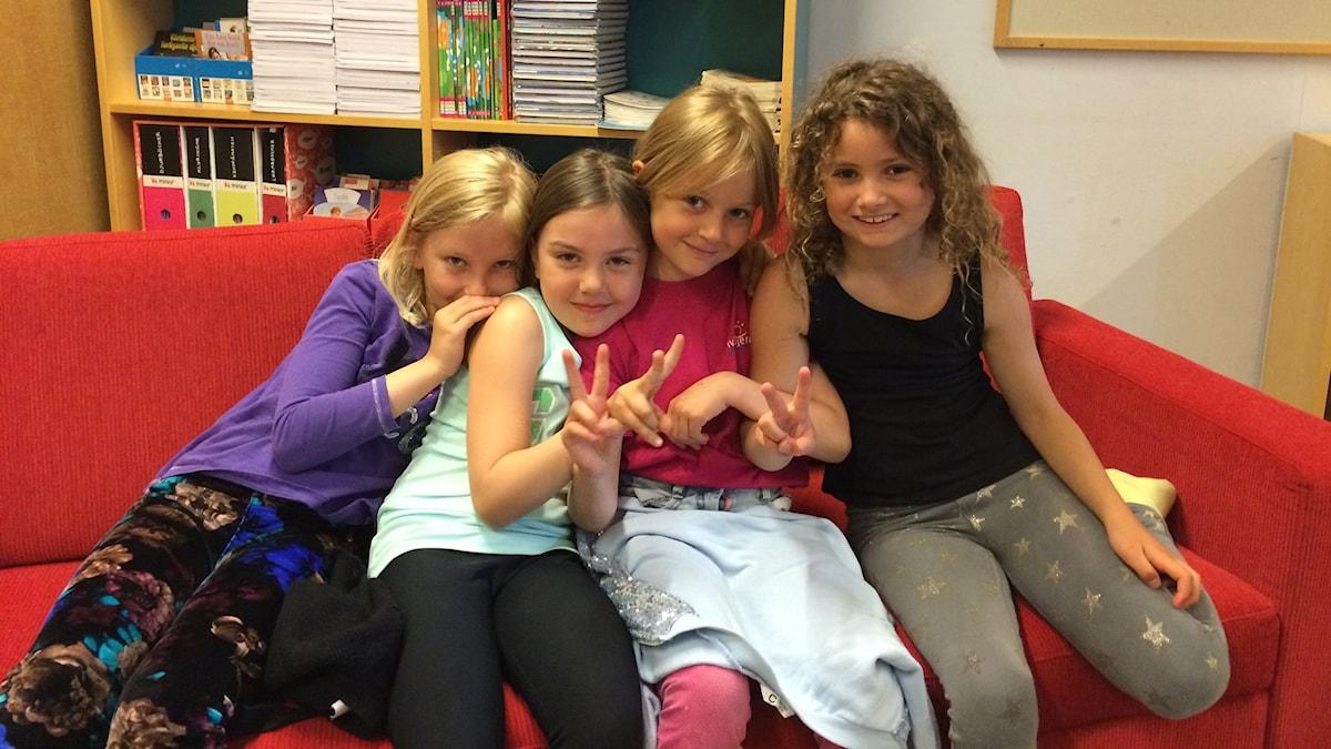 Anna, Emilia, Isabella ja Tova
