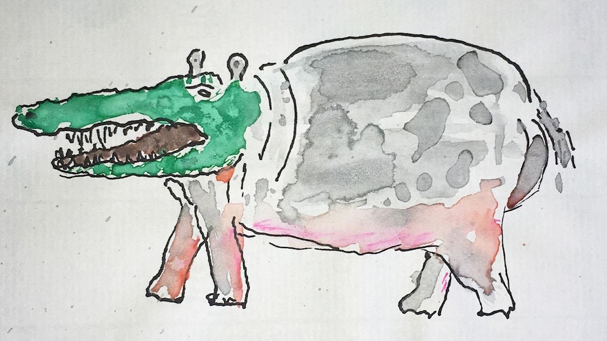 Krokotiilin ja virtahevon risteytys