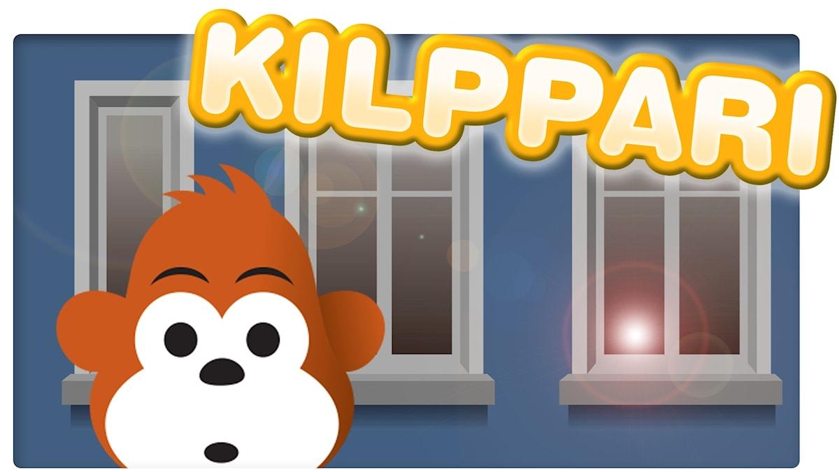 Gorilja ja valo ikkunassa