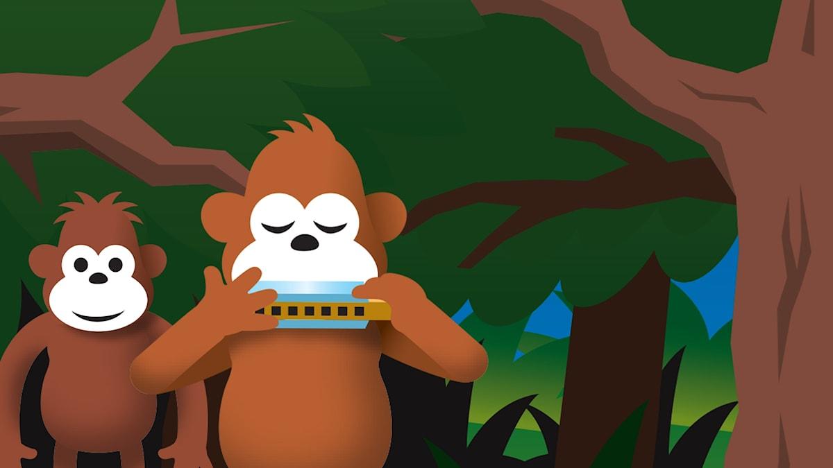 Gorilja ja Bansku metsässä. Ilta alkaa hämärtää...