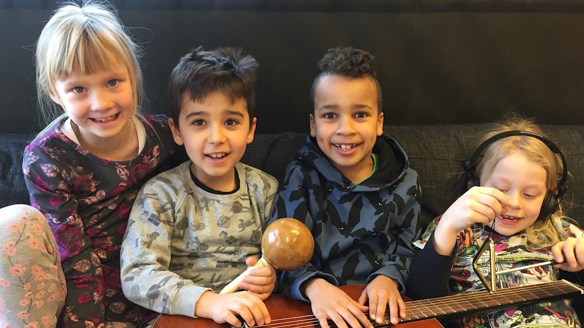 Hanna, Gabriel, Kofi ja Aleksi