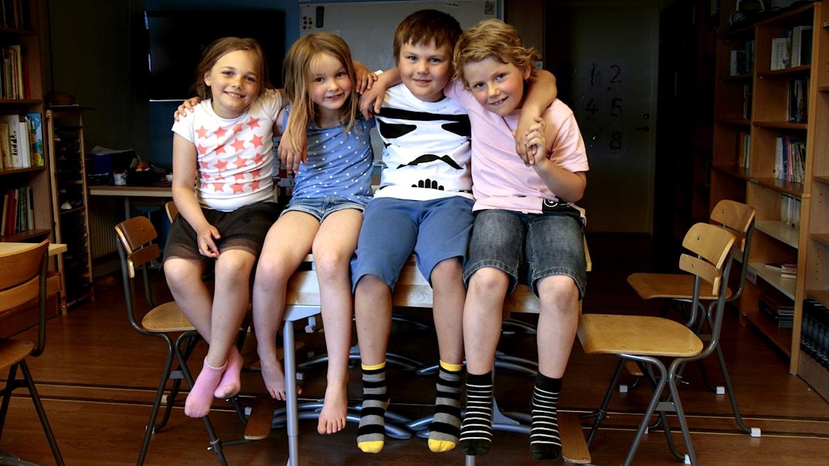 Laura, Svala, Lucas ja Alexander.
