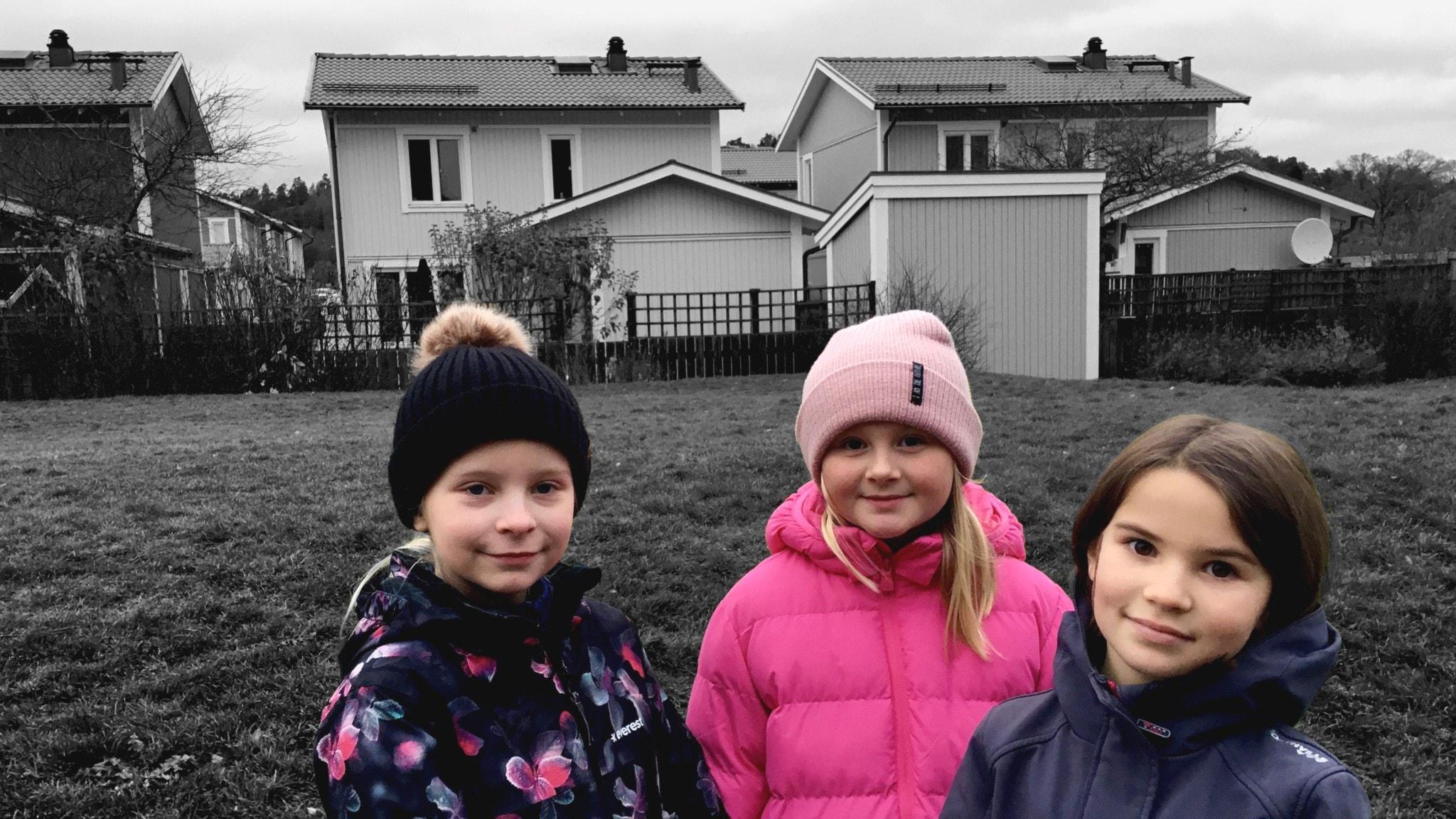 Selma, Milla ja Louise rivissä