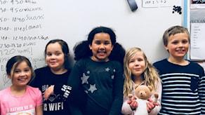 Levyraatilaiset Noova, Millie, Ariana, Leia ja Enzo