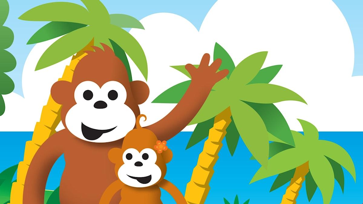 Gorilja ja Mango-vauva.