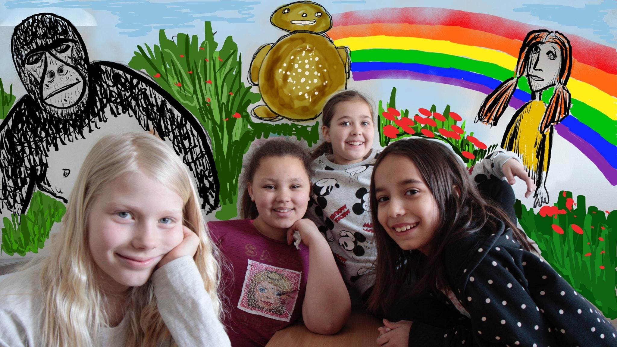 Vasemmalta Iris, Havanna, Noova ja Aliza