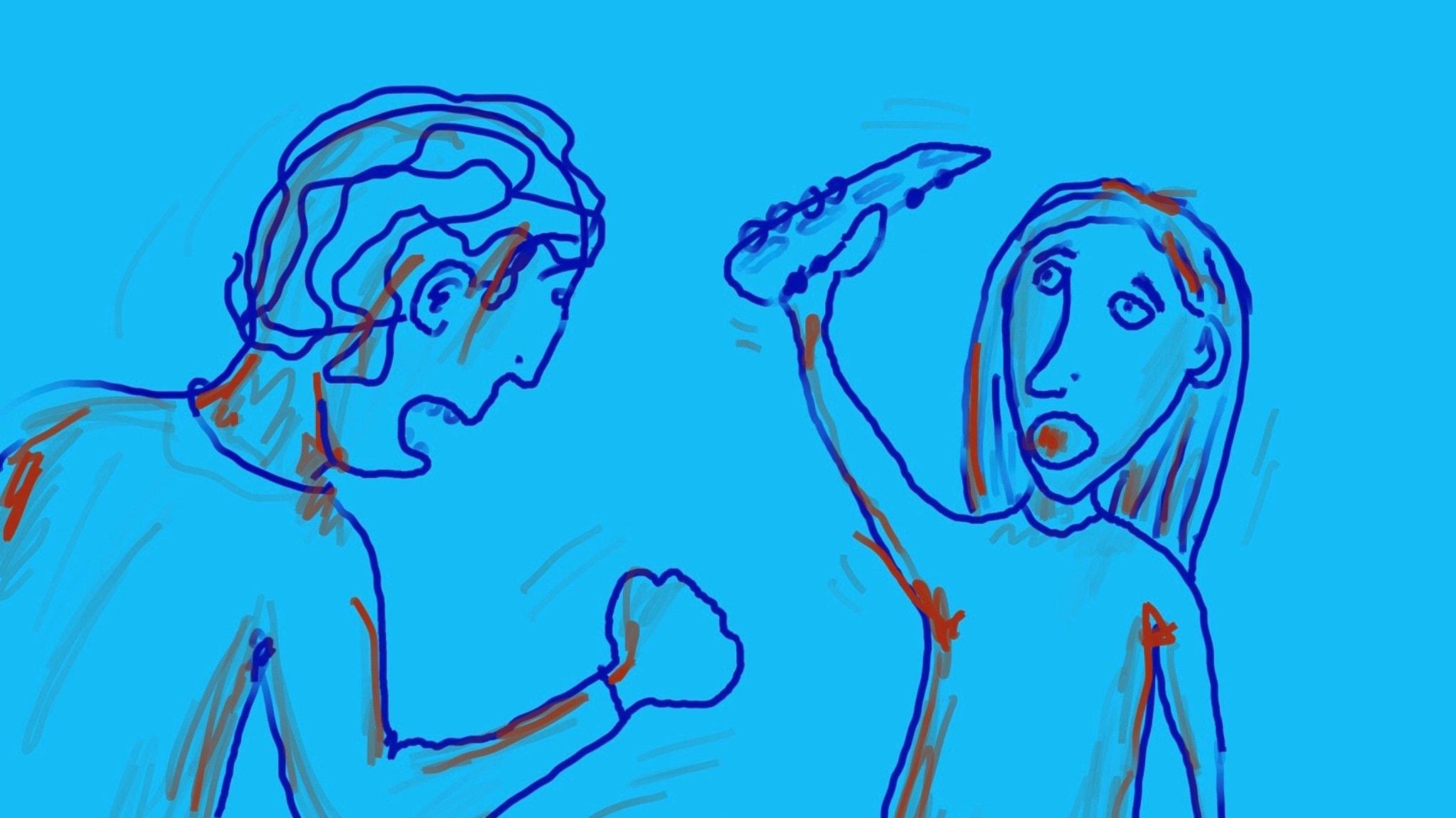Tarina: Annabel ja Miro riitelevät