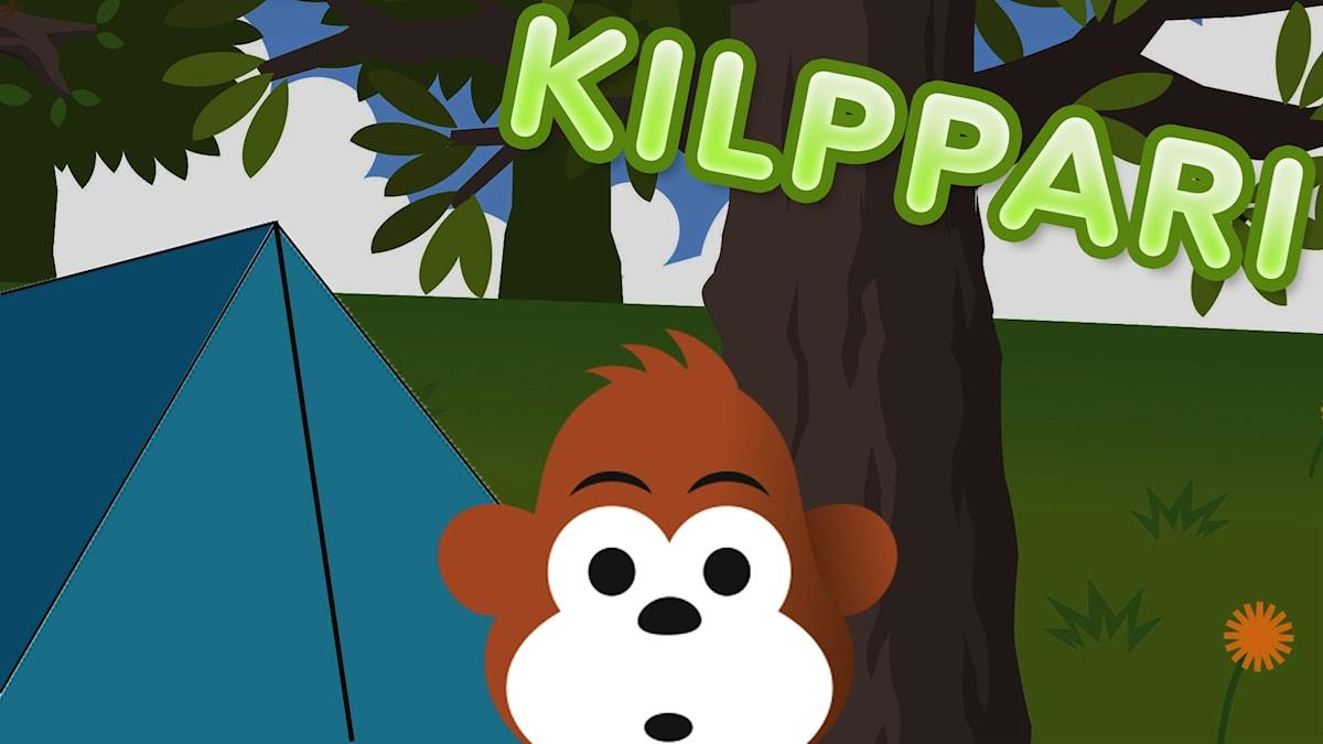 Gorilja herää yöllä pelottavaan ääneen.