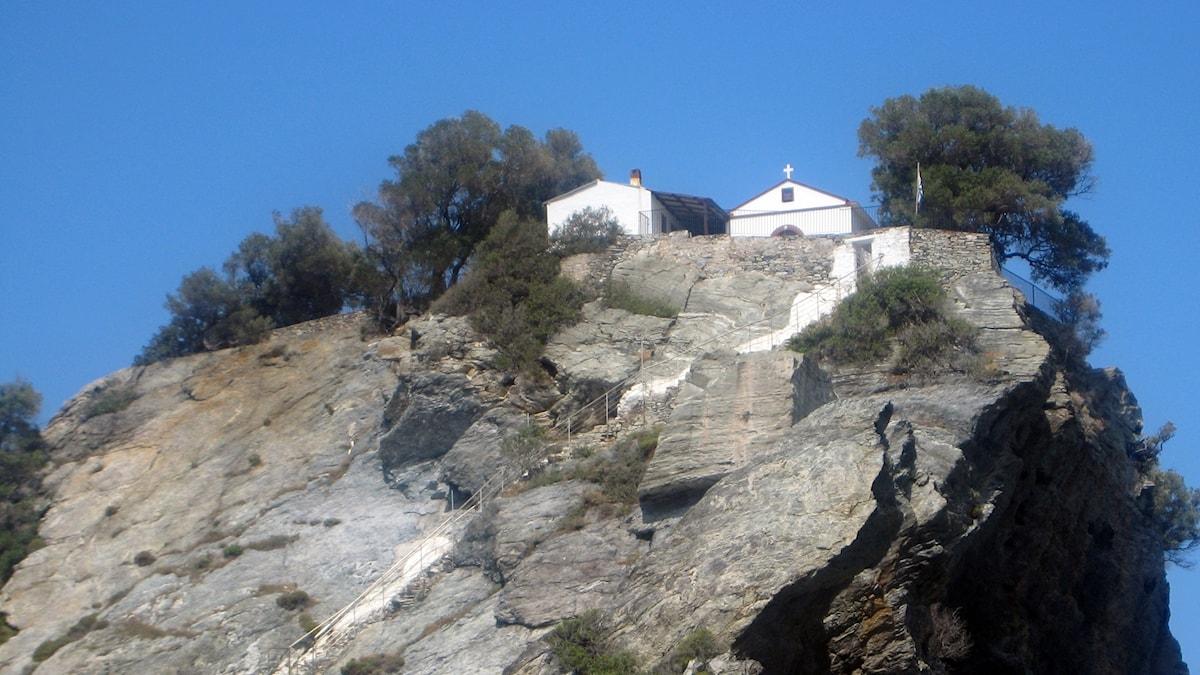 Kirkko Skopeloksen saarella Kreikassa