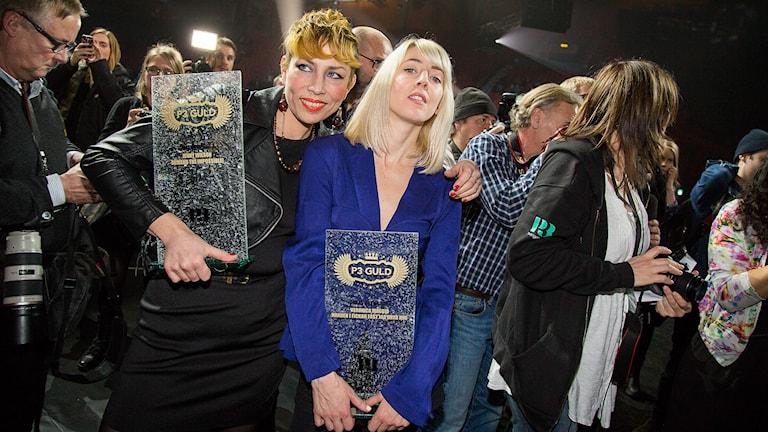 Jenny Wilson och Veronica Maggio. Foto: Mattias Ahlm/Sveriges Radio
