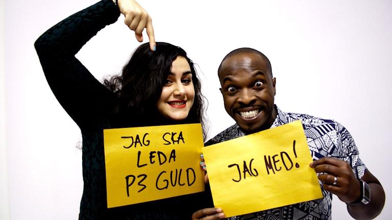 Tina Mehrafzoon och Kodjo Akolor leder P3 Guld! Foto: Eric Tapper/SR