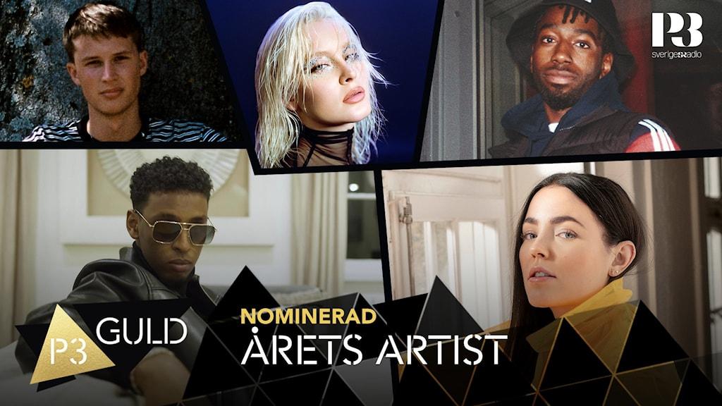 Bild på nominerade i årets artist