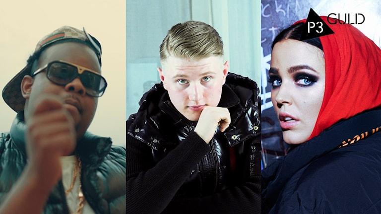 Dree Low, Einár, Miriam Bryant - live på scen 18 januari 2020.
