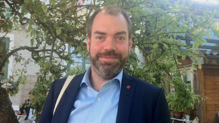 Fredrik Lundh Sammeli, migrationspolitisk talesperson för Socialdemokraterna. Foto: Monika Sällström/Sveriges Radio