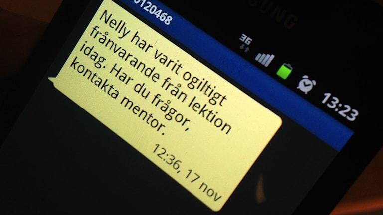 Hälften av skolorna i Stockholms stad använder i dag den automatiska tjänsten. Foto: Markus Landén/Sveriges Radio.