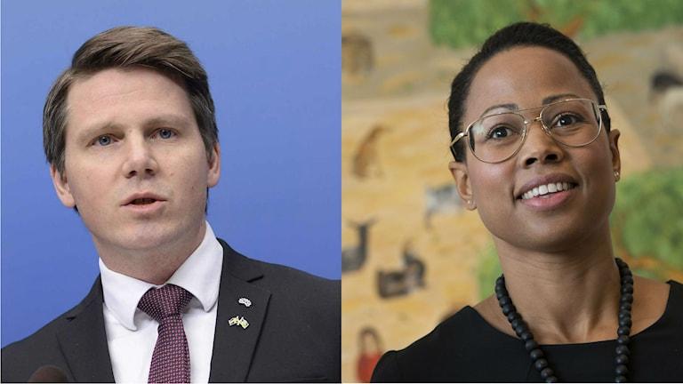 Erik Ullenhag, Alice Bah Kuhnke. Wêne: Fredrik Sandberg/TT, Jonas Ekströmer/TT.