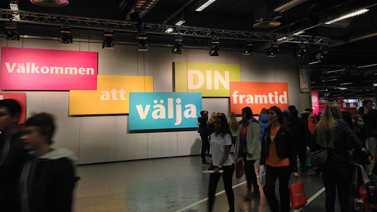 Gymnasiemässan i Älvsjö. Foto: Ellinor Eriksson/Sveriges Radio.