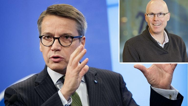 Statsvetaren Jonas Hinnfors kommenterar Kristdemokraternas Göran Hägglunds förslag för att minska kostnaderna för flyktingmottagande. Foto: Göteborgs universitet, TT.