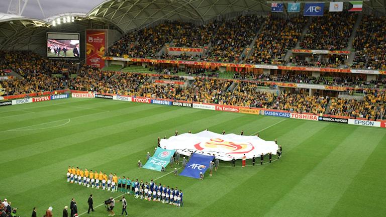 Öppningsmatchen i Asian Cup mellan Australien och Kuwait. Foto: Wikimedia Commons.