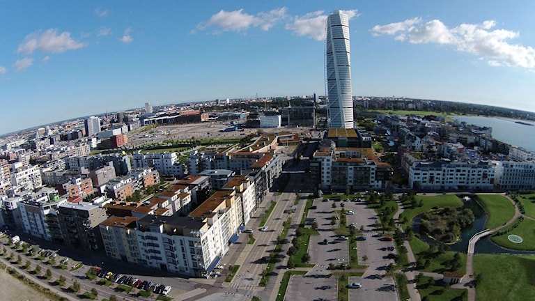 Invandrarmuseet föreslås byggas i Västra hamnen i Malmö. Foto: Johan Nilsson/TT.
