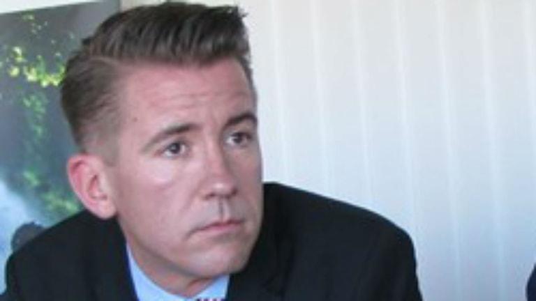 Martin Valfridsson, regeringens samordnare. Foto: Sveriges Radio.