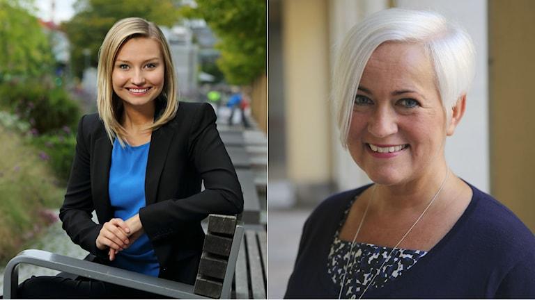 Ebba Busch Thor och Acko Ankarberg Johansson vill båda bli partiledare. Foto: Kristdemokraterna.