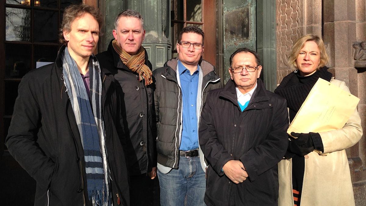 Civil Rights Defenders har tillsammans med elva romer stämt svenska staten. Foto: Isabelle Swahn/Sveriges Radio.