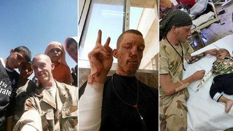Jesper strider mot IS i norra Syrien. Foto: Privat