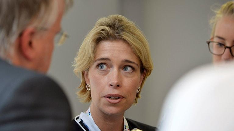 Annika strandhäll, socialförsäkringsminister. Foto:Henrik Montgomery/TT