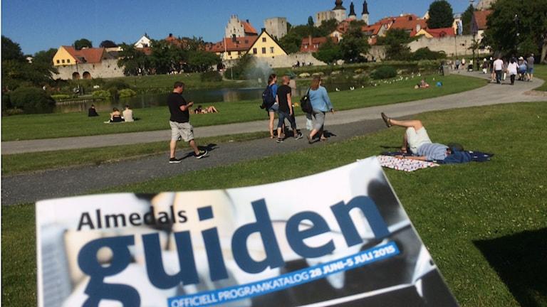 Vy över Almedalen. Foto: Anders Ljungberg.