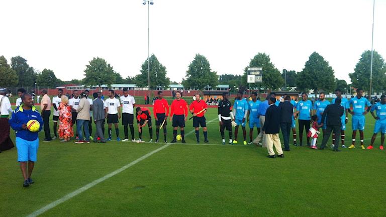 Somalisk fotbollsturnering i Spånga. Foto: Kenadid Mohamed/Sveriges Radio.