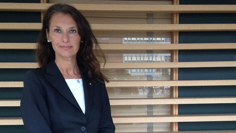 Susanne Gosenius, vid polisen i Region Syd, vill öka förtroendet för polisen. Foto: Siri Hill/Sveriges Radio