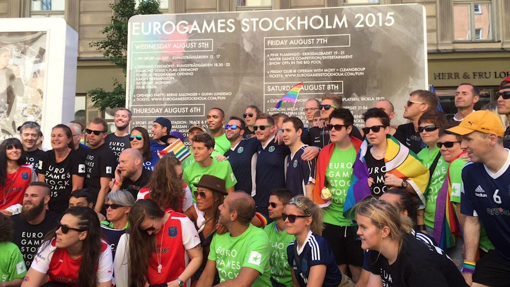 Idag drar världens största sportevenemang för hbtq-personer igång i Stockholm. Foto: Olgica Lindqvist/Sveriges Radio