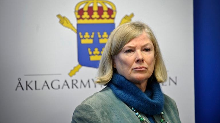 Tora Holst, chefsåklagare. Foto: Anders Wiklund / TT