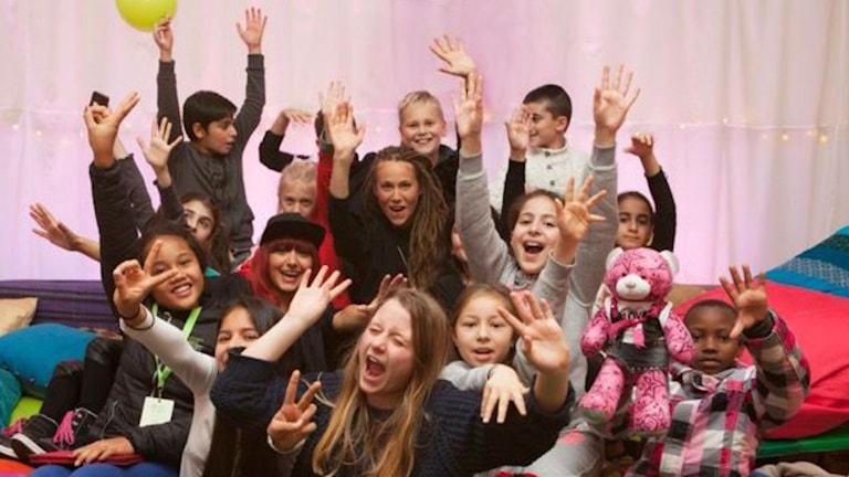 Några av barnen som nu ska påverka världsledarna under FN:s klimatkonferens i Paris. Foto: Children's climate conference