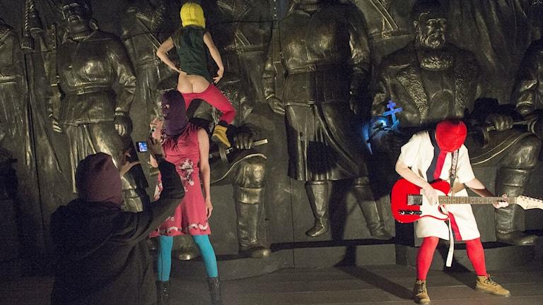 Pussy Riot - en punkbön. På tisdagen presenterades Dramatens vårprogram. Foto Maja Suslin / TT / Kod 10300