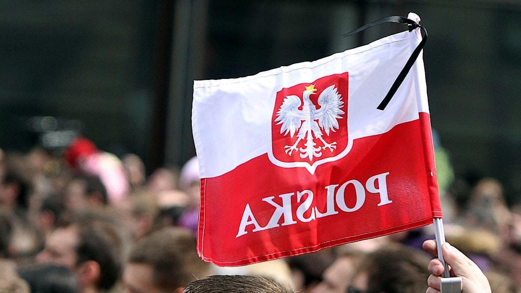 Polsk flagga.