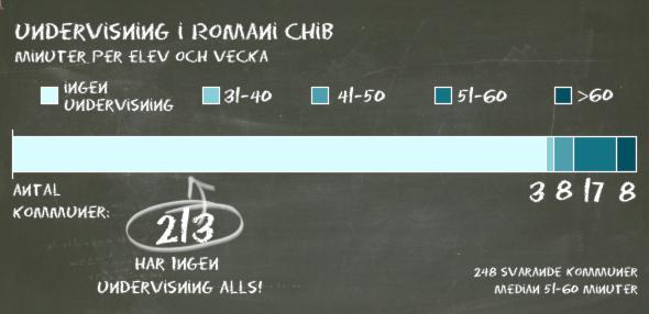 Sveriges Radios kartläggning visar att många kommuner helt saknar undervisning på romani chib. Foto: Sveriges Radio.