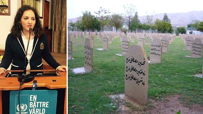 Susanna Güven, ordförande för Kurdiska Riksförbundet i Sverige. Foto: Shaho Mwany