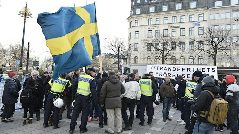 Folkets demonstration från 30 januari. Foto: Marcus Ericsson/TT