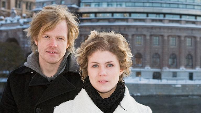 Amanda Glans och Erik Hedtjärn  Foto: Björn Dalin